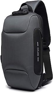 OZUKO Casual Sling Bag, Mochila de Hombro Bolsas de Hombro Impermeable Crossbody Bolsa Sling Pecho Bolsas, Hombres Sport F...