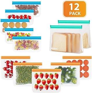 Newdora Bolsas de Silicona Reutilizables 12 Pack, Bolsas