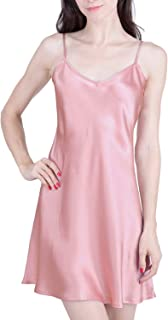 Women's Luxury Silk Sleepwear 100% Silk Slip Chemise Babydoll Lingerie Nightgown