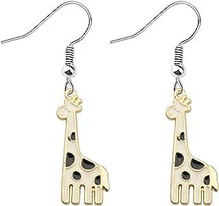 POTIY Giraffe Gifts Gold Plated Giraffe Charm Bracelet Adjustable Pearl Bracelet for Giraffe Lovers Animal Lovers