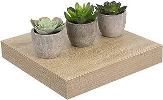 Home Basics Rectangle Wood Organizer Space Saving Floating Shelf (Oak, 9