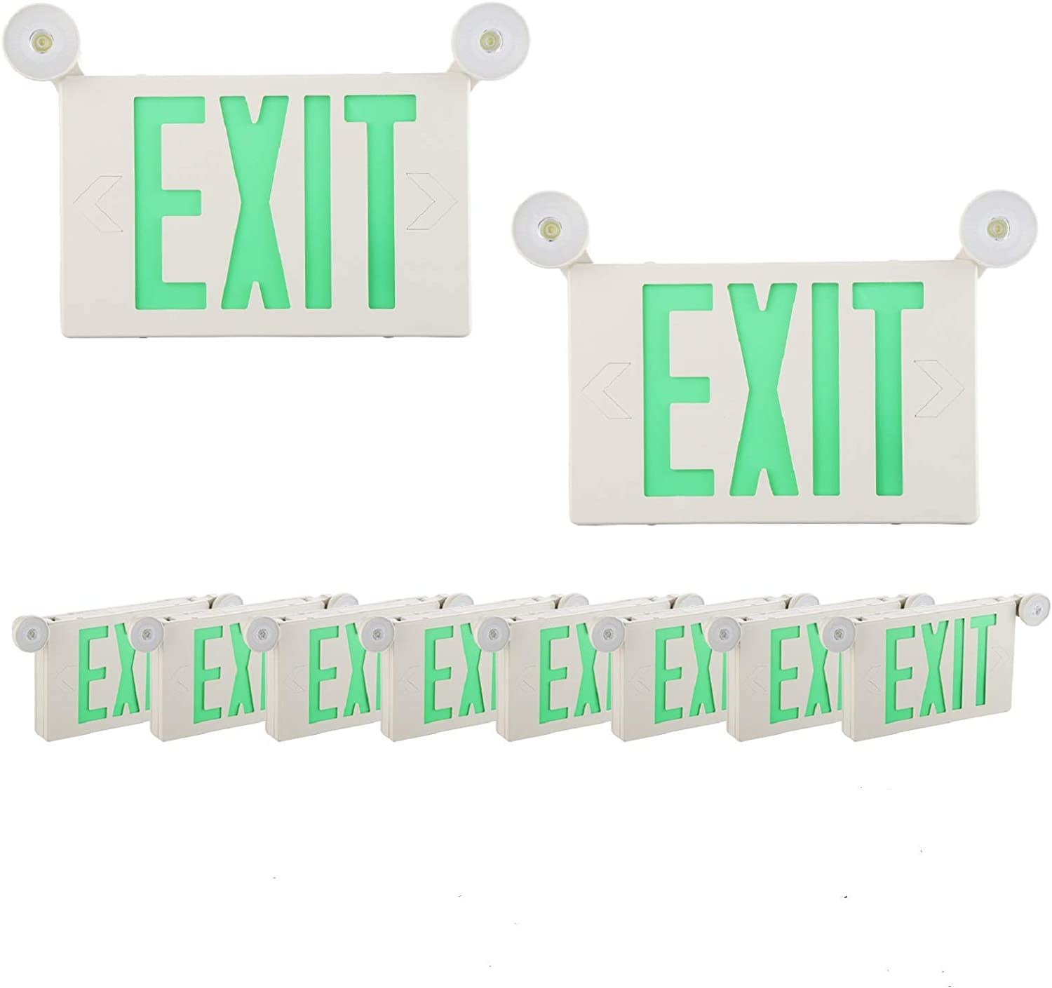 SPECTSUN Phoenix Mall 10 Pack LED Emergency EXIT Super sale period limited Sign Lighting Combo-120-277V
