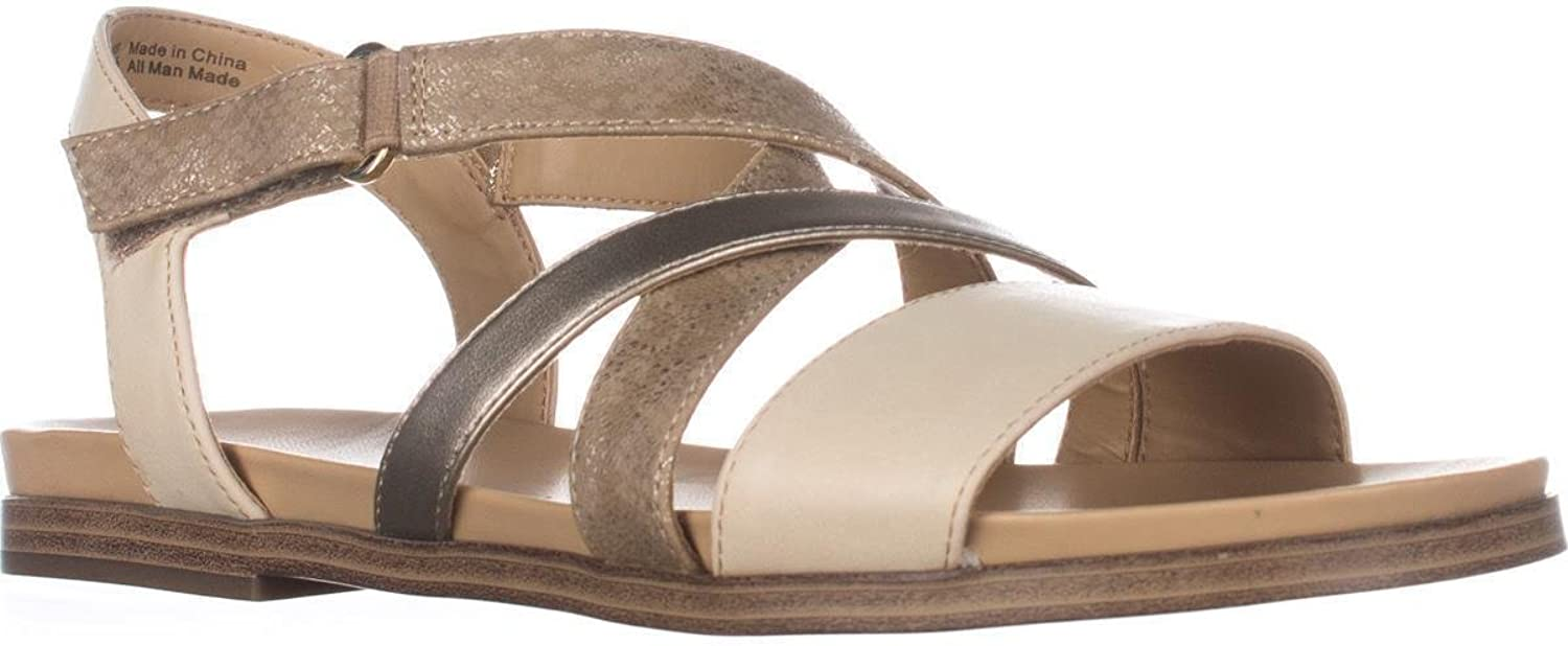 Naturalizer Womens Kandy Open Toe Casual Slingback Sandals, Beige, Size 9.5