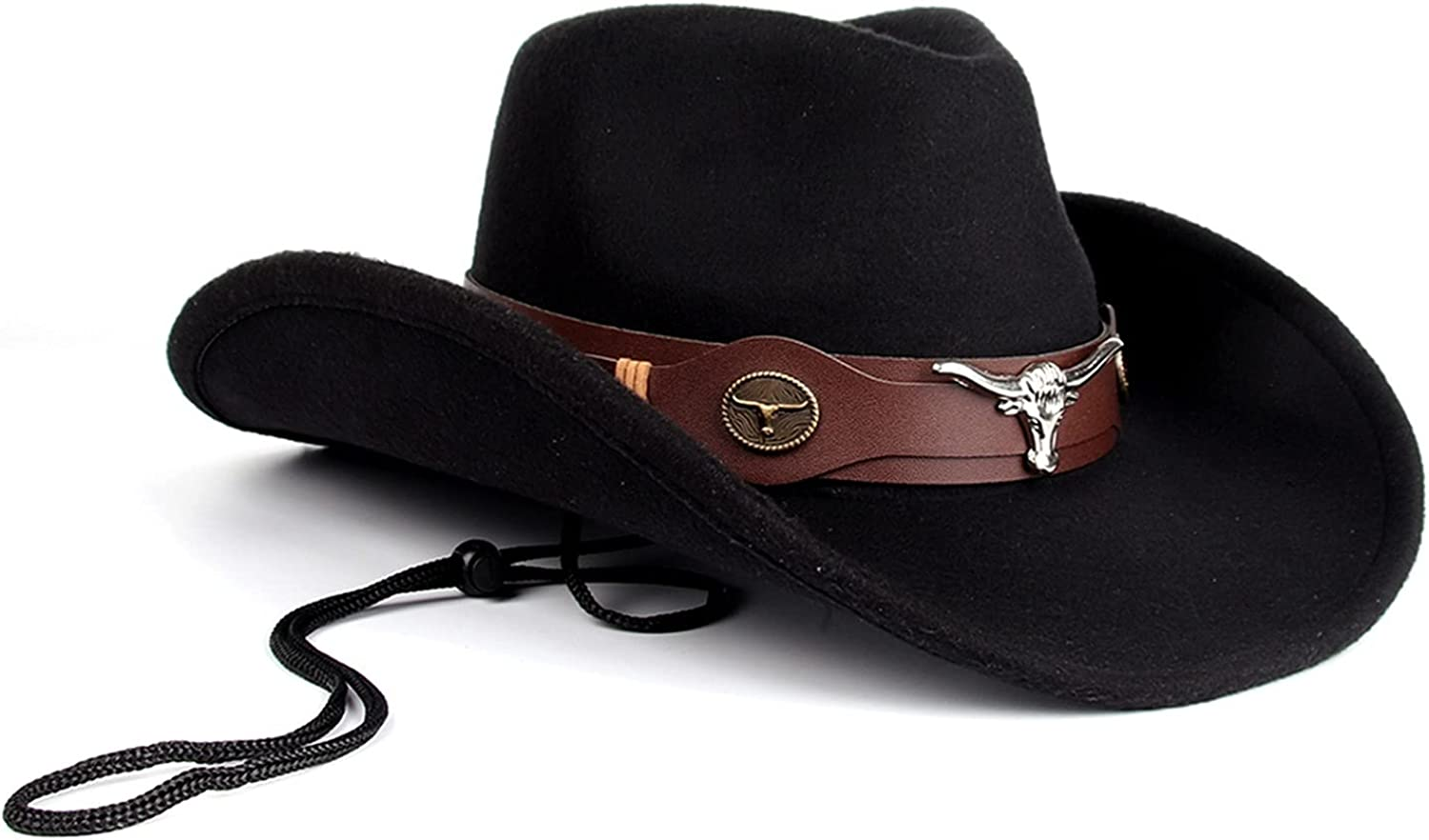 Felt Cowboy Very popular Ranking TOP5 Hat for Men Outback Hats Brim Neck Roll Up and with