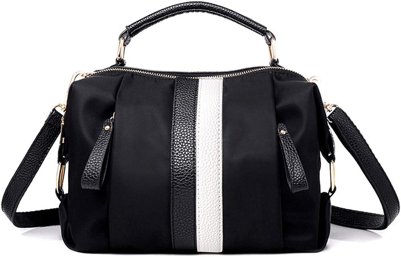 HOUYAZHAN Damen Nylon Schulter Crossbody Bag Bag Bag Daily Handtasche Top Griff Handtasche Tote Umhängetasche (Farbe   schwarz) B07NXZKMGM  Neueste Technologie 4ed220