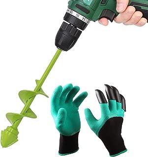 UGarden Bulb & Bedding Plant Auger, with Garden Genie Gloves, Garden Plant Flower Bulb Auger 2
