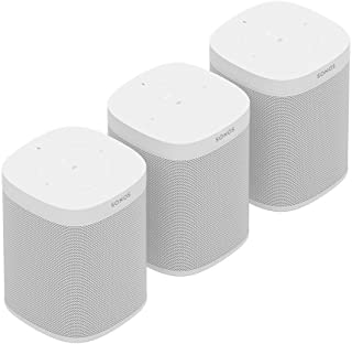 Sonos One (Gen 2) Multi-Room Voice Controlled Smart Speakers Bundle (3-Pack) - White
