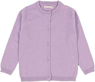 2ac94e5198 RJXDLT Girls Crewneck Cardigan Long Sleeve Children Button Cotton Sweater  Uniform Sweaters for Little Girls