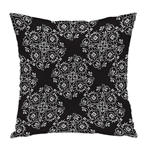 Preisvergleich Produktbild oFloral Kissenbezüge,  Blumenmuster,  dekorativer quadratischer Kissenbezug für Heimdekoration,  Satin,  Style-05,  40, 6 x 40, 6 cm (16 x 16 Zoll)