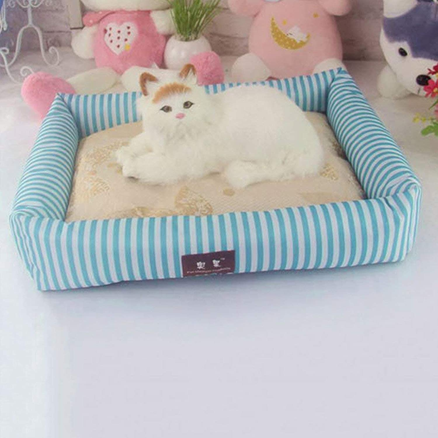 IANXI Home Summer Dog Bed Pet Cooling Sleeping Mat Cat Bed Cushion bluee XL for Cat Dog