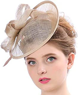 AS ROSE RICH Flower Derby Hats Fascinator Sinamay Hat Cocktail Party Headwear Girls and Women for Melbourne Cup