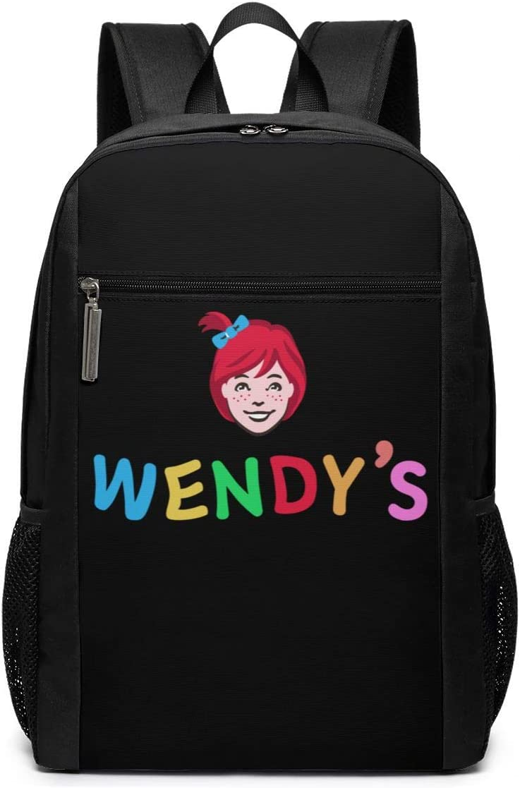 Nidaly Wendys Logo Backpack Casual Daypack School Laptop Backpack for Womens Mens