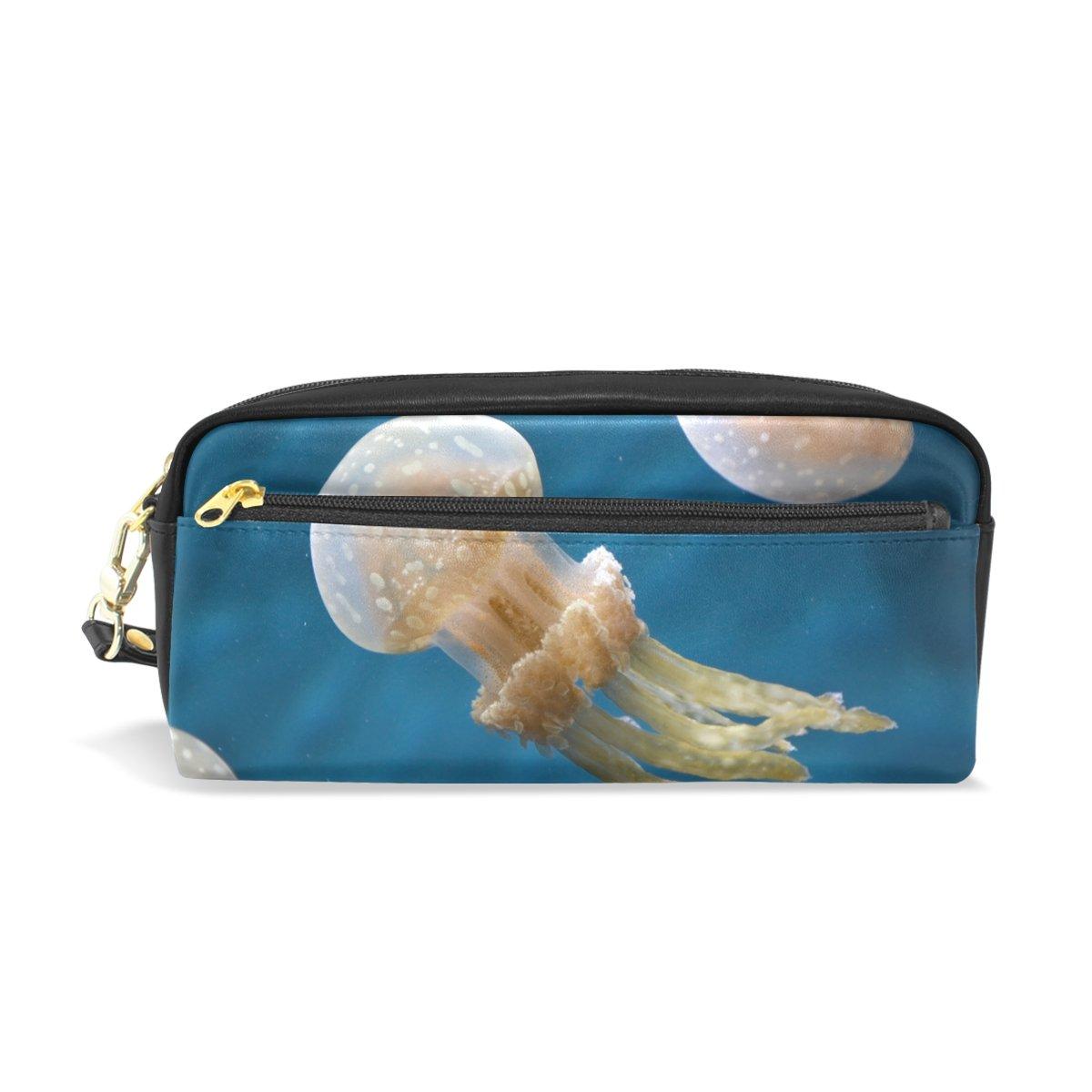 Ahomy Ocean Seawater - Estuche para bolígrafos con doble cremallera, tamaño grande, para maquillaje, cosméticos, artículos de papelería, bolsa de almacenamiento para niñas, niños y mujeres: Amazon.es: Oficina y papelería