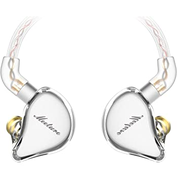 SIMGOT MT1 in-Ear Monitor Headphones, Hi-Res IEM Earphones with Dynamic Driver, Noise-Isolating Musician Headset for Singers Drummers, Design HiFi Earbuds with Microphone (Undetachable Cable, Clear)