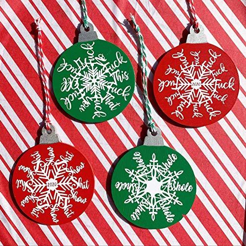 Cussing Christmas Ornaments - Fuckflakes - 2020 Ornaments