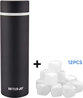 Vacuum Water Bottle,Stainless Steel Water Bottle,Stainless Steel Wide Mouth Vacuum Water Bottle Vacuum Insulated Coffee Mug Plus 20pcs Free ICE Cubes Flask Bottle Keep Water Stay Cold&Hot for 24 Hours