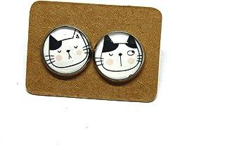 Orecchini Gatto - Orecchini acciaio - Idea regalo gattara