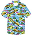 UNICOMIDEA Big Boy's 3D Printed Novelty Hawaiian Shirt Button Down Aloha Tees Summer Dress Casual Tops for 7-14 Years Old