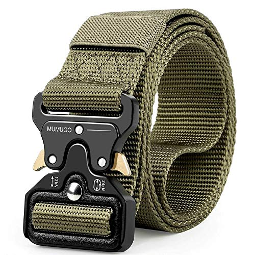 Find Bargain MUMUGO Men Tactical Belt Military Style with Us Belt Heavy Duty Nylon Belt for Hunting Training Army Running