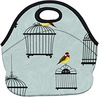 LunchBags Meal Bag Meal Bag Cage Bird Bird Supply Yellow Illustration Pet Supply Iron Beak Atlantic Canary Canary color9 Ordinary