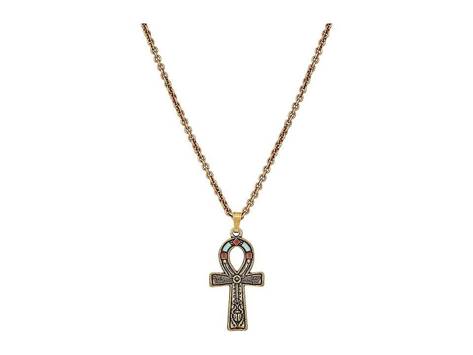 Image of Alex and Ani 18 in. Large Ankh Necklace (Rafaelian Gold) Necklace