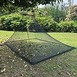 Wisolt Mosquitera para cama doble de camping – Red de insectos compacta y ligera al aire libre con 4 pinzas y 1 bolsa de transporte para camping, senderismo, pesca, expediciones en la selva