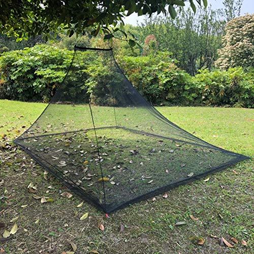 Wisolt Moskitonetz Reise für Camping Einzelbett - Kompaktes und leichtes Outdoor-Insektennetz mit 4 Heringen und 1 Tragetasche für Camping, Wandern, Angeln und Dschungelexpeditionen