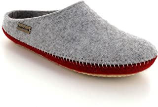 Haflinger Felt Slippers | P-Loft Duo, Greay and red