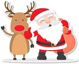Kerst Rendier Stickers - Vader Kerstmis decoratieve ramen decals