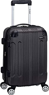 Rockland London Hardside Spinner Wheel Luggage, Grey, Carry-On 20-Inch