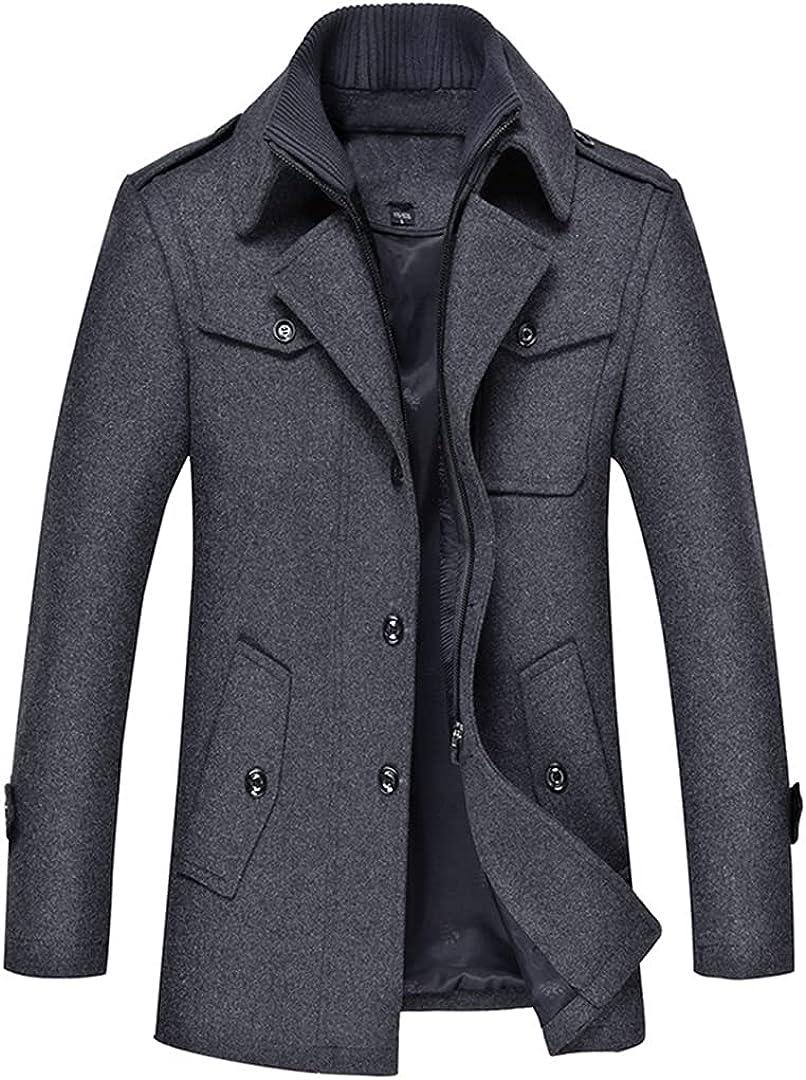Wool Coat Men Slim Large Size Trench Coat Men Thick Woolen Coat Overcoat Wool Jacket