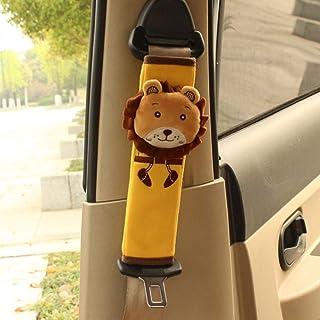 Weimay 1pcs Cartoon Kinder Gurtpolster Auto Sicherheitsgurt Bügel Gurtschutz, Gurtpolster Schulterpolster Schlafkissen Nackenstütze,Lion