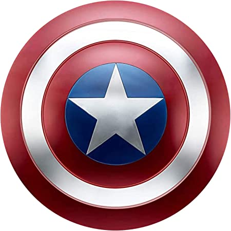 Escudo Capitan America Metal Adulto 1: 1 Custome Cosplay Props para 47.5CM