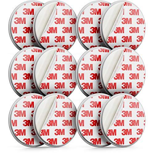 deleyCON 6X Magnetbefestigung für Rauchmelder Magnethalter Feuermelder Selbstklebende Magnethalterung Klebefläche Durchmesser 65mm