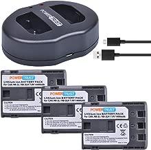 PowerTrust 3-Pack NB-2L NB-2LH Battery and NB2L Dual USB Charger for Canon DC301, DC310, DC320, DC330, DC410, DC420, Elura 40, 50, 60, 65, 70, 80, 85, 90, EOS 350D, 400D, Digital Rebel XT, XTi Camera