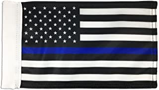 Pointview Flags Thin Blue Line Motorcycle Flag · 6 x 9 Inches