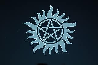 Five Star Graphics Anti Possession Symbol Sticker Vinyl Decal Choose Color & Size!! Supernatural Symbol Pentagram Catholic Voodoo Demons (V504) (4