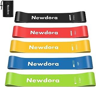 comprar comparacion Newdora Bandas Elasticas de Fitness, Set de 5 Loop Bandas elésticas de Resistencia.Bandas para Entrenar Piernas Glúteos ...