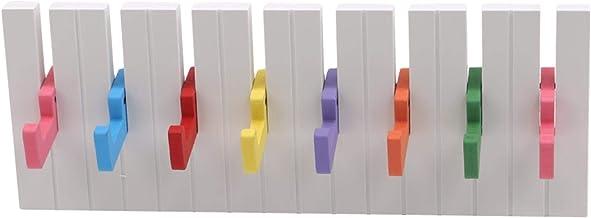 CAVIVIUK Haken Piano Houten Kapstok Ruimtebesparende Entry Houten Hangers Voor Hal Entryway Slaapkamer, Wit, 15.4 * 5.7 * ...