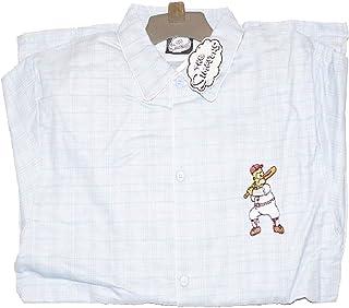 Genérico - Pijama de franela Homer The Simpson, a rayas, color azul
