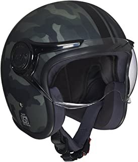 Royal Enfield Olive Open Face with Visor Helmet Size (L)60 CM (RRGHEH000011)