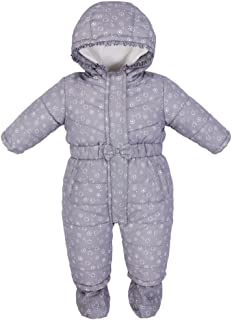 Baby Snowsuit + Booties Hooded Romper Infant Winter Outfits Warm Clothes