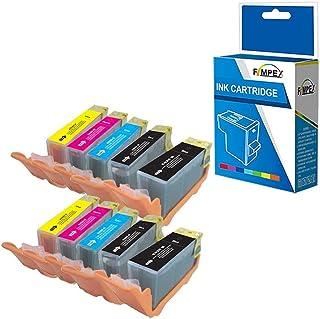 Fimpex Compatible Tinta Cartucho Reemplazo para Canon Pixma iP4850 iP4950 iX6550 MG5150 MG5250 MG5300 MG5320 MG6150 MG6250 MG6220 MG8170 MG8150 MG8220 MG8250 MX715 C525/526 (BK/C/M/Y, 10-Pack)