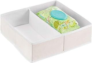mDesign boîte de Rangement pour vêtements, Accessoires pour bébé – boîte en Tissu pour Chambre d'enfant – Module de Rangem...