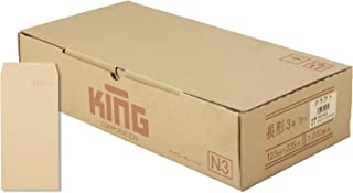 キングコーポレーション クラフト封筒 長形3号 70g 1000枚入 150502