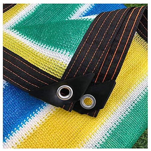 Jonist Sun Shade Netting 80% Sunblock Shade Cloth UV Resistant Fabric Mesh Tarp for Greenhouse Plant Cover Shade Net Taped Edge With Eyelets Colorful Pergola Cover (Size : 5mx5m/16ftx16ft)