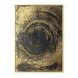 Nórdico negro dorado remolino abstracto póster impresión lienzo pintura pared arte Cuadros retro sala dormitorio Decoracion estética 40x50cm sin marco
