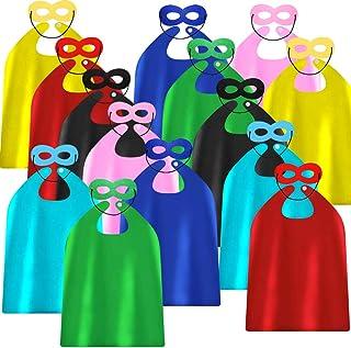 أغطية وأقنعة للبطل الخارق من شركة أدجوي لحفلات أعياد الميلاد - ملابس تنكرية بنفسك - عبوة مكونة من 28 قطعة (14 مجموعة)