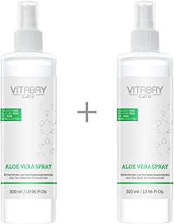 Aloe Vera Spray 600 ml für Körper & Haar - 99,9% biologisch reine Aloe Vera, mit Hyaluronsäure, Made in GERMANY - EXTRA Stark - 1200 mg/ltr Aloverose