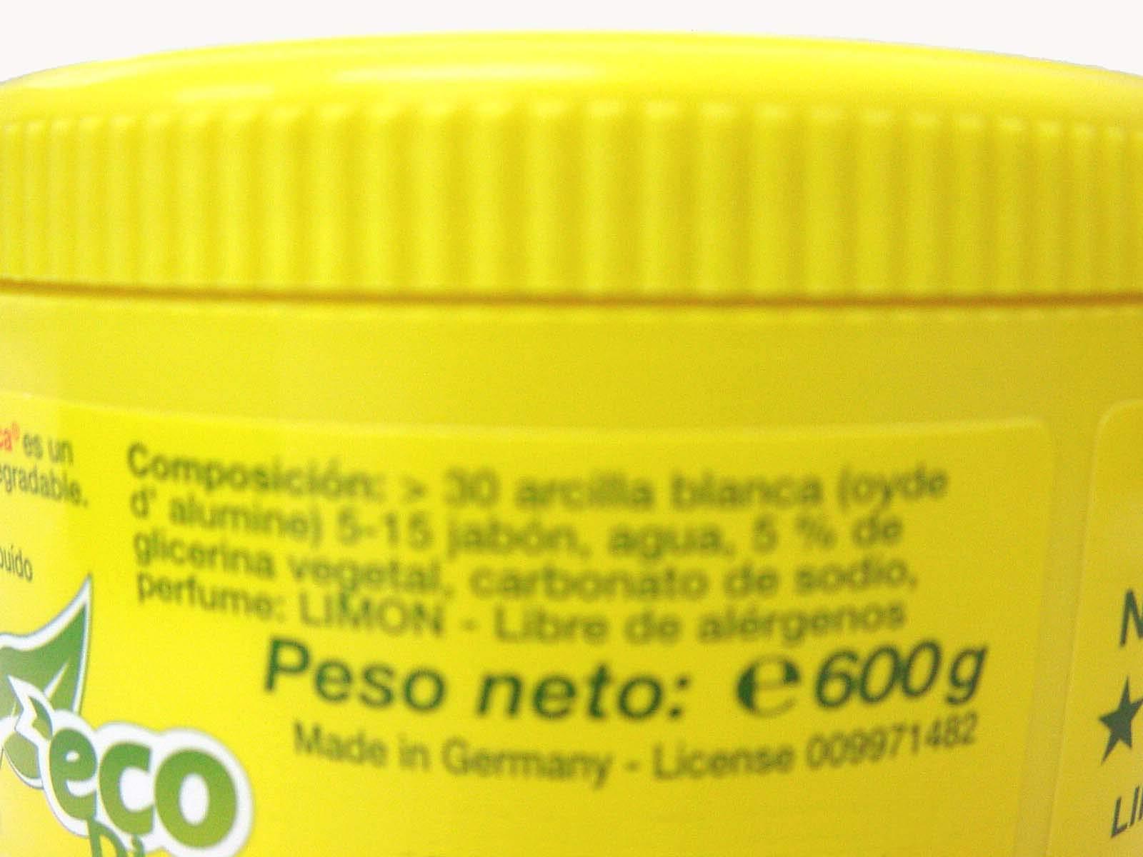 LA FANTASTICA PIEDRA BLANCA (ARCILLA CON REGALO DE ESPONJA) BOTE 600 GRAMOS: Amazon.es: Hogar